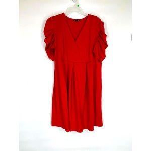 True Envy Red Ruffled Mini Dress 18W